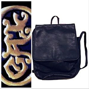 🍁Backpack-Purse, Black Leather